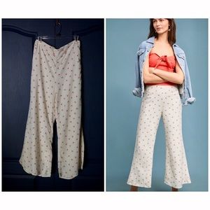 Anthropologie Talese Wide Leg Cherry Pants NWOT